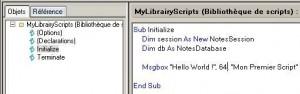 Exemple de Script